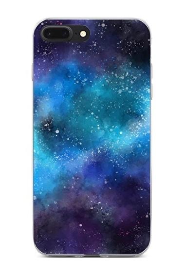 Lopard Apple İphone 8 Plus Kılıf Uzayda Kaybolmak Kapak Renkli